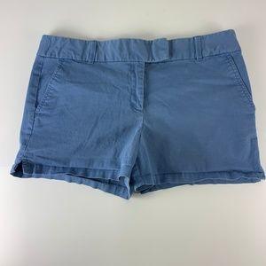 "Ann Taylor LOFT Sz 14 Blue Shorts Flat Front 4"" In"